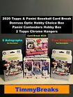 2020 Topps & Panini Baseball Card Live Break 2 Hobby Boxes 2 Hangers - Pick Team