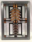 Frank Lloyd Wright Collection Mini Stained Glass Window 6 x 8 Autumn Sumac