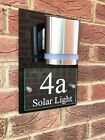 MODERN HOUSE SIGN PLAQUE DOOR NUMBER STREET GLASS ACRYLIC HOUSE NAME SOLAR