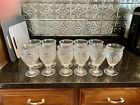 Adeline 12 ounce Footed Glass Goblets set of 11 clear