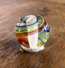 Vintage STEVEN MASLACH Glass Marble 1 1 16 Rainbow with Tornado Latticinio