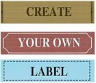 1000pcs Custom T SHIRT Clothing Woven Labels Text Only Fabric Sewing label tags