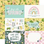 Simple Stories Bunnies  Blooms Double Sided Cardstock 12X12 4X6 Elements