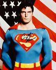 SUPERMAN 8X10 HAND SIGNED BY CHRISTOPHER REEVE W USA FLAG KRYPTON METROPOLIS