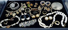 Vintage to Now Jewelry Lot Estate Bracelets Necklace Rings Compact Hand Mirror