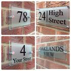 CONTEMPORARY SIGN PLAQUE DOOR NUMBER STREET HOUSE NAME GLASS EFFECT ACRYLIC