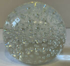 Large Clear Glass Controlled Bubble Paperweight