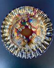 Antique Dugan Carnival Glass Amethyst and Gold Cherry Pattern Small Bowl