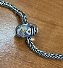 Authentic Trollbeads Unique OOAK Swimming White Fish Stripe HTF