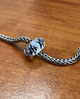 Authentic Trollbeads Unique OOAK Swimming White Fish Stripe HTF New
