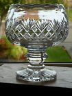 Stunning Cut Crystal Footed Knopped Pedestal Large Bowl Centrepiece
