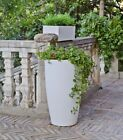 Bambu 275 Tall Modern Recyclable Plastic Planter Variety of Colors Indoor Outd