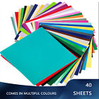 40 Pack Permanent Adhesive Backed Vinyl Sheets Craft 12x12 Assorted Cricut