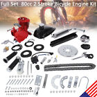 80CC 2 Cycle Gas Motor Motorized Engine Bike Bicycle Moped Scooter Kit New Red