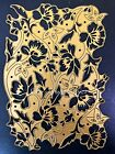 Anna Griffin Die FLORAL BACKGROUND Metal Cut Emboss Flowers Rare Retired Htf Big