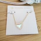 Ari Heart Gold Dichroic Glass Pendant Necklace by Kendra Scott