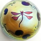 Vtg LUNDBERG STUDIOS DRAGONFLY PAPERWEIGHT 2 3 4 1979 GOLD STARS LILY PADS
