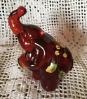 Fenton Art Glass Red Elephant