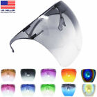 Clear Shield Face Mask Goggles Transparent Reusable Glasses Visor Anti Fog Lot