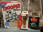 Star Wars Funko Troopers Frosted O's Shirt, Millennium Falcon Keychain, Jawa Pez