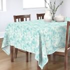Tablecloth Bird Animal Turtle Tropical Alligator Toile Line Cotton Sateen