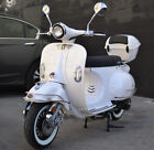 NEW Bellagio 150cc Moped Vintage Gas Scooter Retro Motorcycle Rear Trunk LED USB