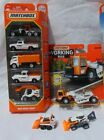 Matchbox Construction Ranec with bonus Skidster and Backhoe Lot of 4 items