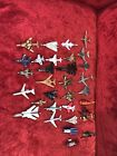 Lot Of 27 Die Cast Airplanes 4 Helicopters1 Blimp Used Condition