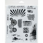 Stampers Anonymous Tim Holtz Cling Stamps 7X85 Bitty Grunge