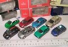 Lot of 8 diecast cars 7x Norev  1x Majorette Peugeot MIB 1 54 to 1 60 scale