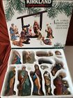 13 Piece Porcelain Nativity Set Kirkland Signature 75177 Missing Wood Base