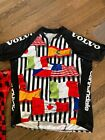 Cannondale Volvo Saeco Nations Flags MTB Jersey XL Pluss FREE Plaid Jersey