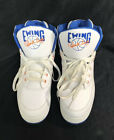 Patrick Ewing High Top Shoes Blue Orange and White Size 12 EUC