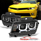 CCFL U Style Tube 2014 2015 For Chevy Camaro Projector Black Headlights Pair