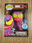 Funko POP! Marvel Carnage Black Light Funko Shop Exclusive With Pop Protector