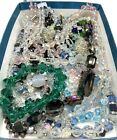 Glass  Crystal Beads Lot Beaded Broken Jewelry Repair Lot Craft Upcycle Destash