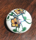 Vintage Signed Lundberg Studios Art Glass Round Ball Floral Paperweight 1975