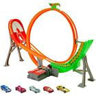 Hot Wheels Power Shift Raceway Track 5 Race Vehicles Set With Motorized Booster