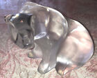 Beautiful Large Lalique France Crystal Clear  Frosted Glass Polar Bear SIGNED