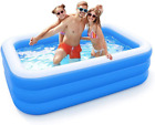 Inflatable Pool For Adults Kids Family Kiddie Swimming Pool Blow Up Rectang