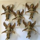 5 Vintage Nativity Angel Gloria Italy 100 9 Christmas Ornament 35