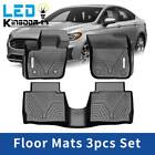 Floor Mats All Weather Liners For 2013-2020 Ford Fusion Lincoln Mkz 3pcs Set