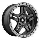 5x1143 4 Wheels 15 Inch Rims FUEL 1PC D557 ANZA 15x8 18mm Black GUN METAL