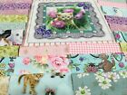 5 KITTY GLITTER Pre cut QUILT KIT Baby or Child Pink Lavender Yellow etc