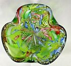MURANO ABSTRACT ART GLASS BOWL WITH INTENSE COLORING