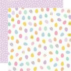 Simple Stories Bunnies  Blooms Double Sided Cardstock 12X12 Egg Hunt