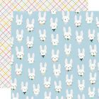 Simple Stories Bunnies  Blooms Double Sided Cardstock 12X12 Bunny Love