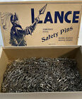 Vintage Lance Safety Pins Tempered Steel Laundry Nickel Plated 450 ++