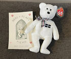 Ty PIRAN Beanie Baby Bear - UK EXCLUSIVE - with ABBEY BEARS Certificate - MINT