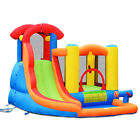 Inflatable Bounce House Water Slide w Climbing Wall Splash Pool Water Cannon